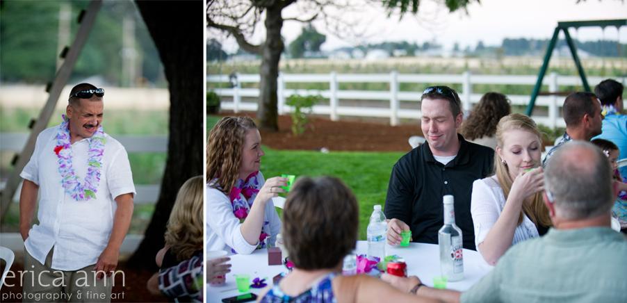 Backyard Hawaiian Wedding Photography Drinks