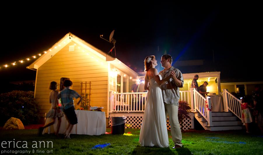Backyard Hawaiian Wedding Photography Dancing