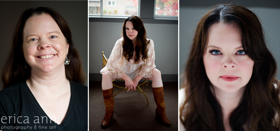 Portland Boudoir Photography Before and After