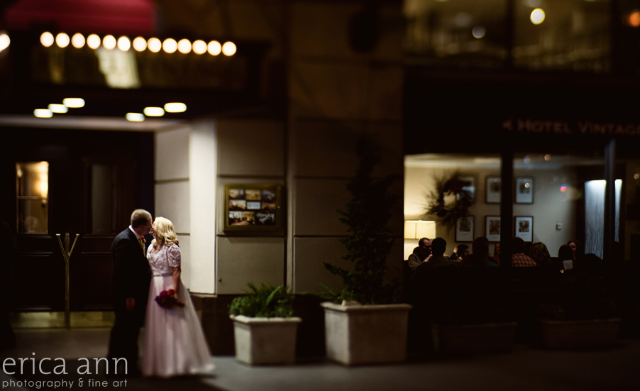 Vintage Plaza Hotel Downtown Portland Wedding New Year's Eve