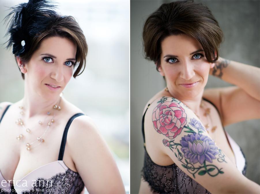 Portland Tattoo Curvy Boudoir Photography
