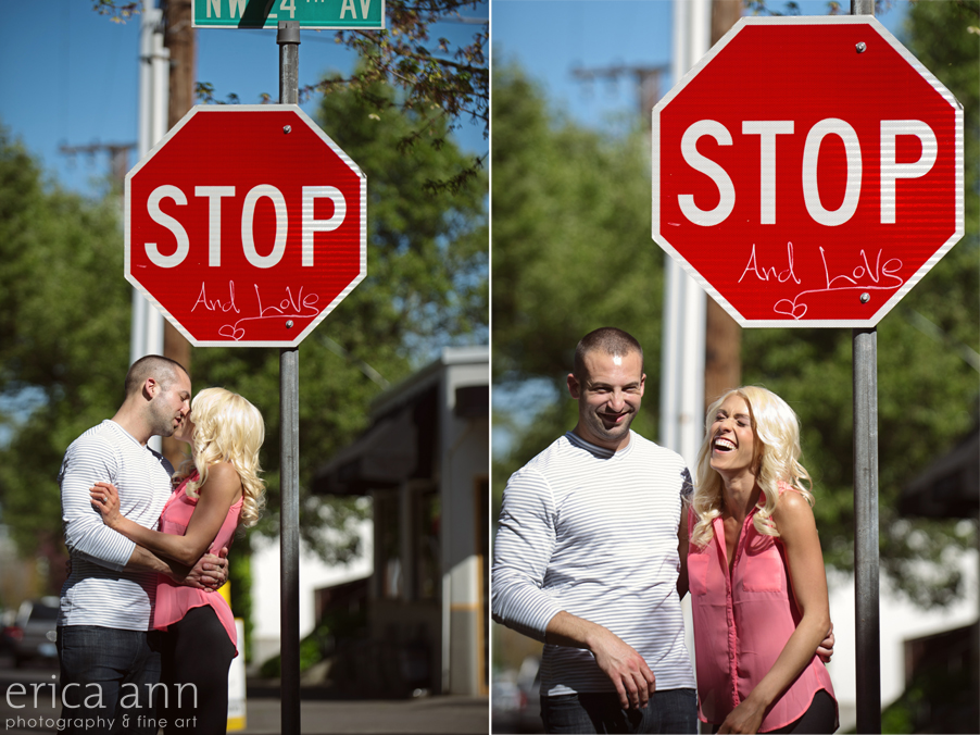 Portland Sunny Day Engagement Session