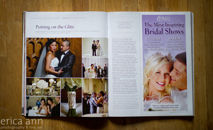 Oregon Bride Magazine Real Wedding at Portland Art Museum
