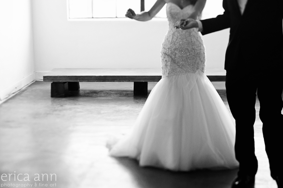 YU Contemporary Black and White Wedding Reception