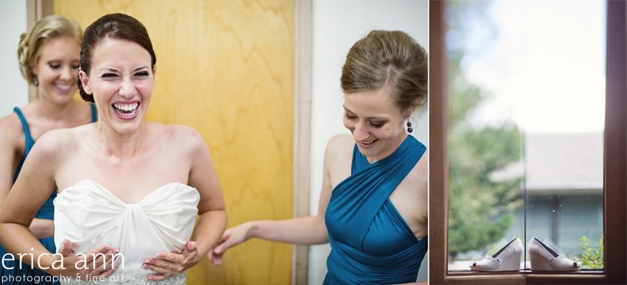The Forestry Center Wedding Photos Bride Preparation