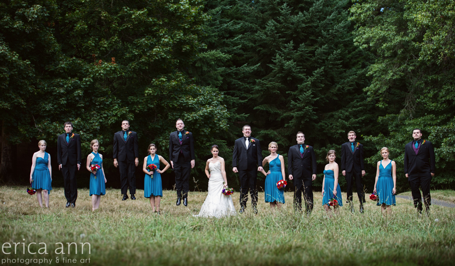 The Forestry Center Wedding Photos Bridal Party Jumping Picture