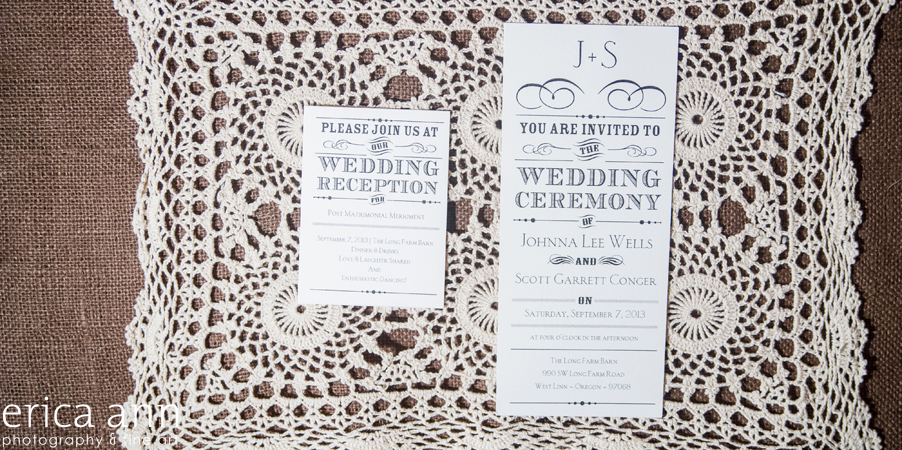 Long Farm Barn Wedding Photographers Invitation