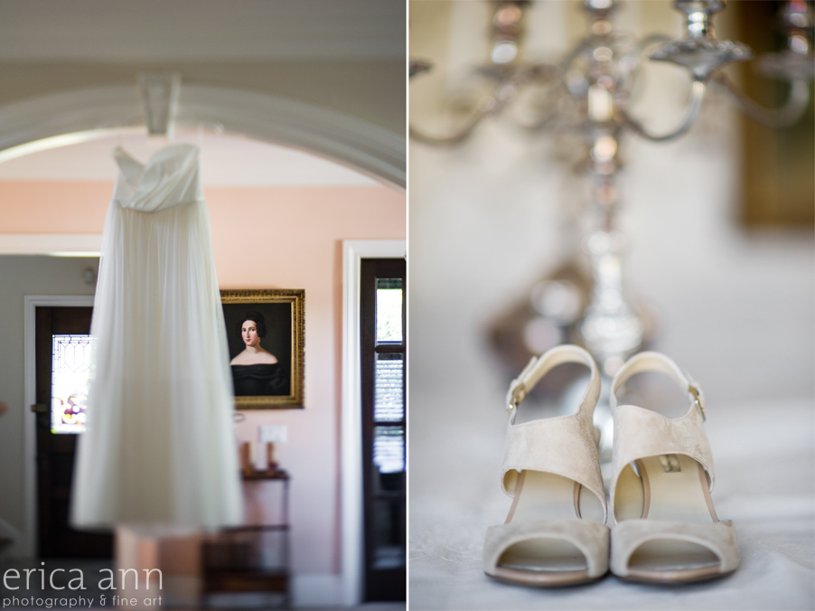 Long Farm Barn Wedding Photographers Dress and shoes
