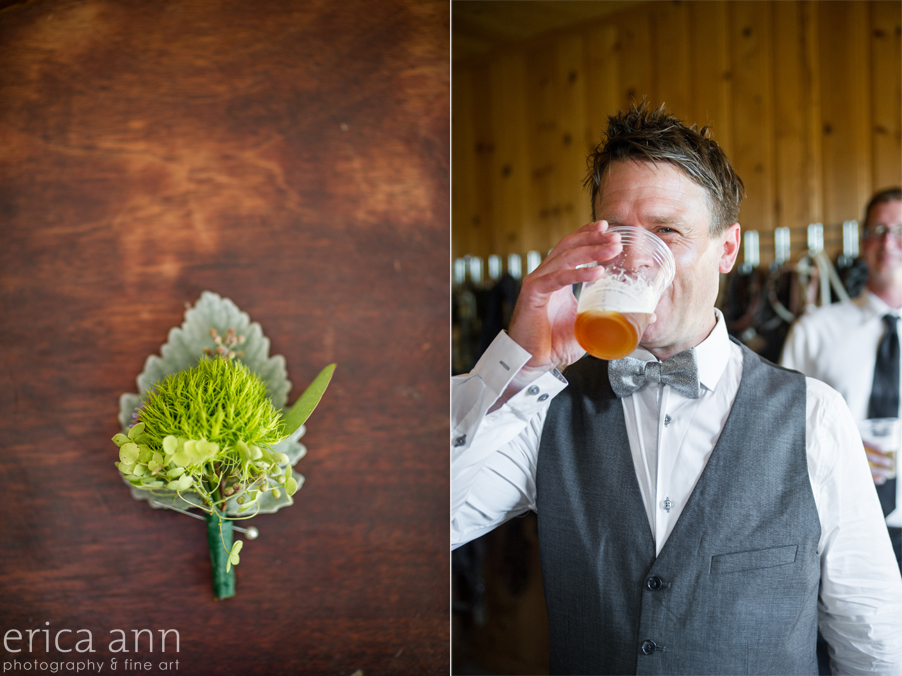 Long Farm Barn Wedding Photographers Beer and Boutineere