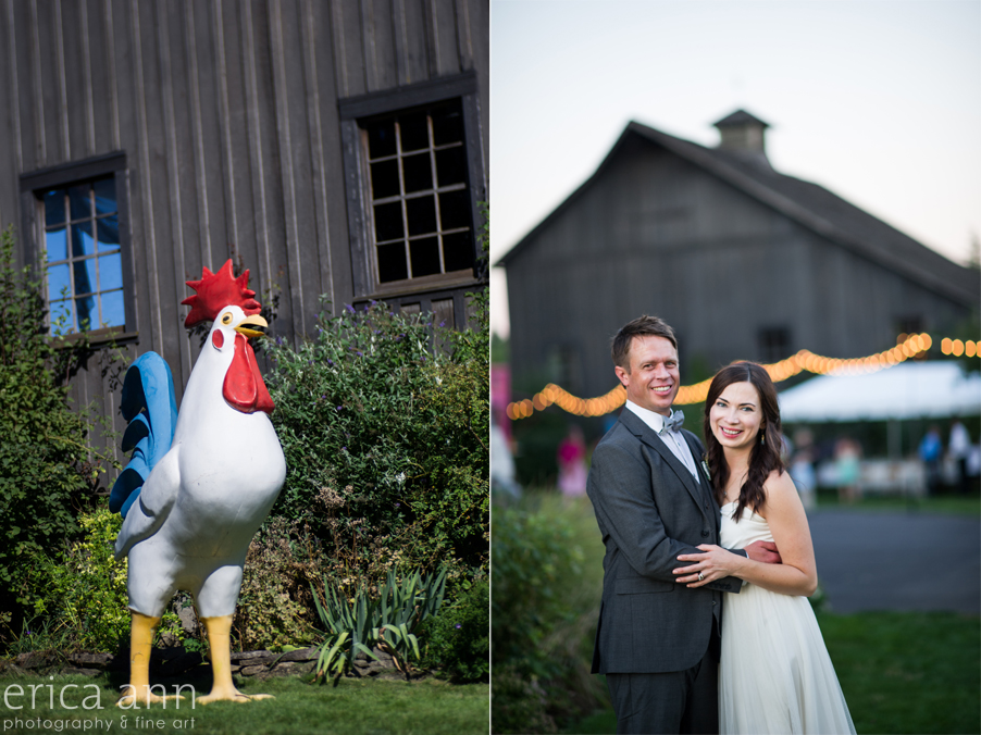 Long Farm Barn Wedding Photographers rooster