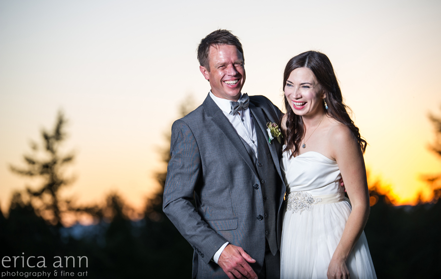Long Farm Barn Wedding Photographers sunset