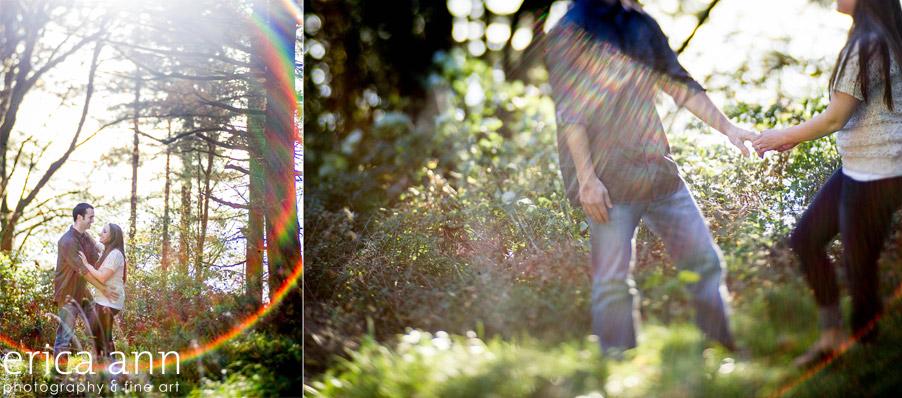 Bald Peak Engagement Photography Lensbaby rainbow