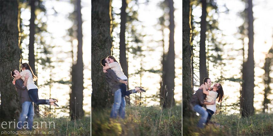 Bald Peak Engagement Photography kiss