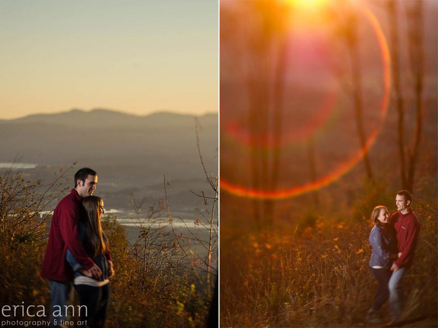 Bald Peak Engagement Photography orange sunset