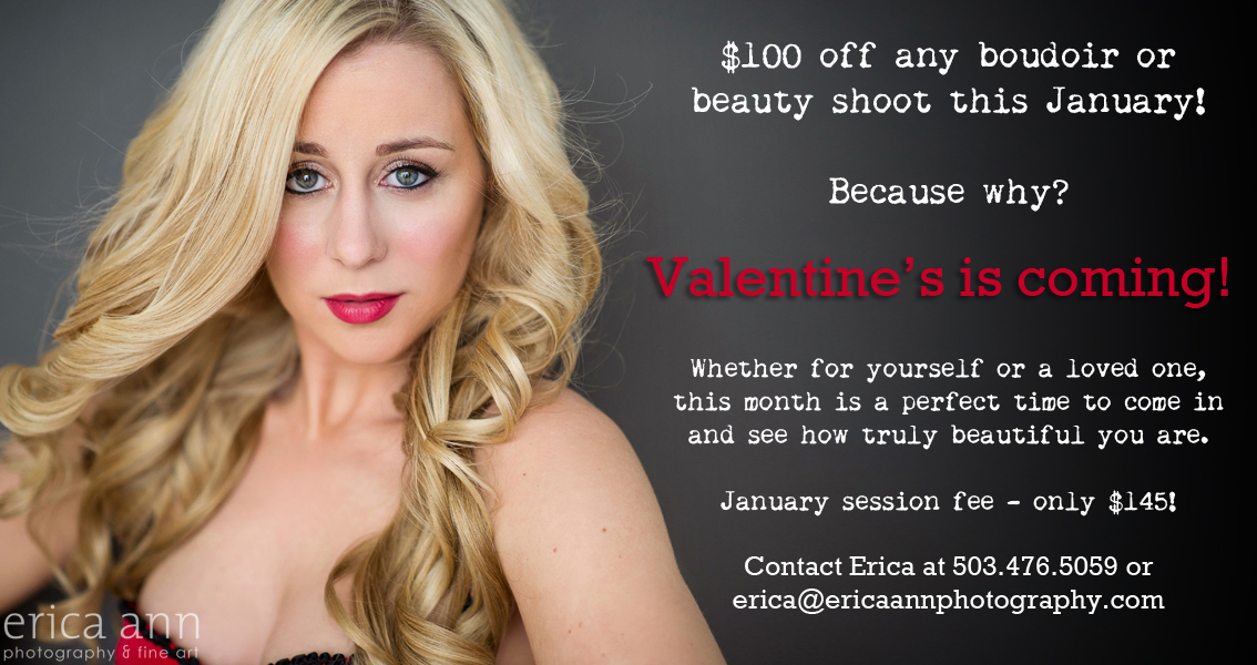 Valentine's Day boudoir and glamour special