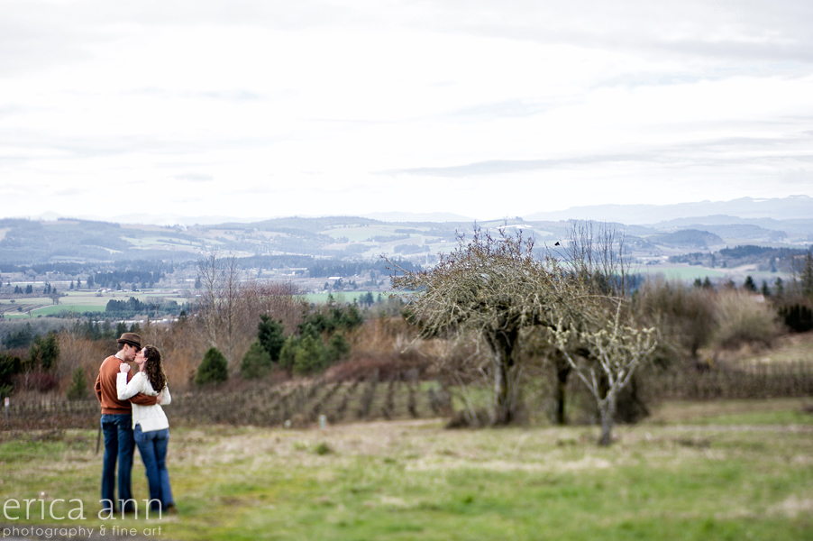 Cooper Mountain Vineyard Engagement Session view