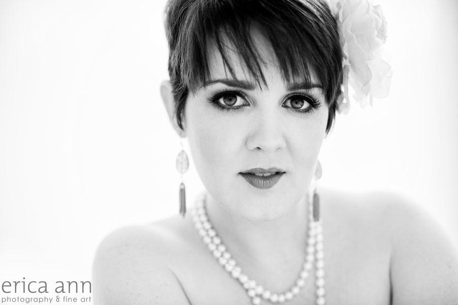 Black and White Glamour Photography Boudoir Makeover