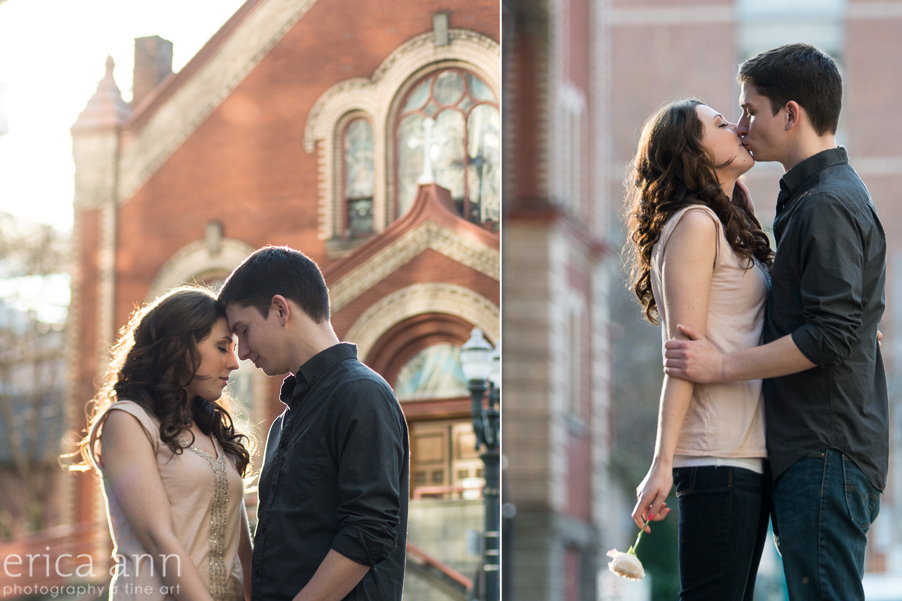 Portland Waterfront Engagement Session Church