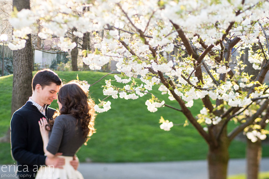 Portland Waterfront Engagement Session Flowers
