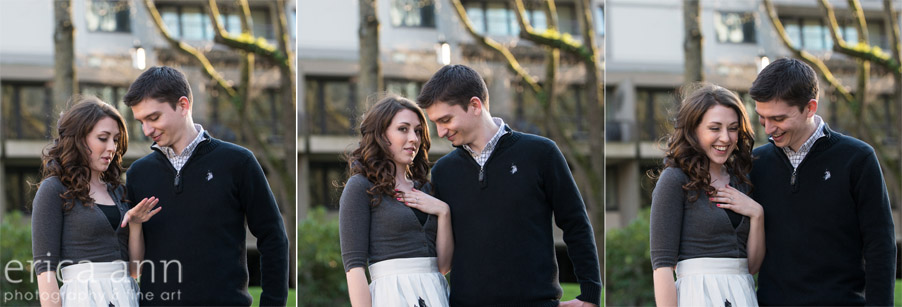 Portland Waterfront Engagement Session Ring