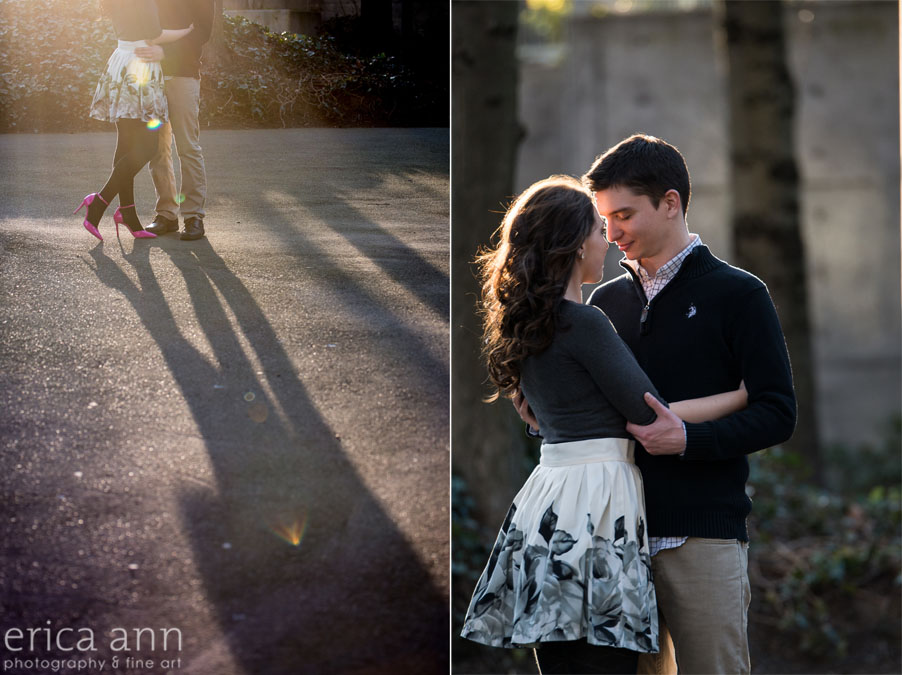 Portland Waterfront Engagement Session Shadows