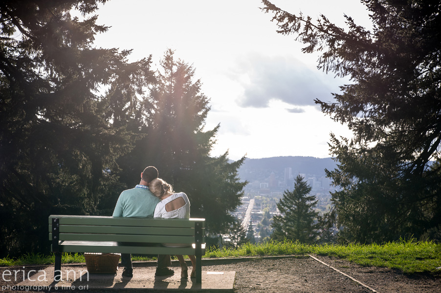 Mt Tabor Engagement Session View