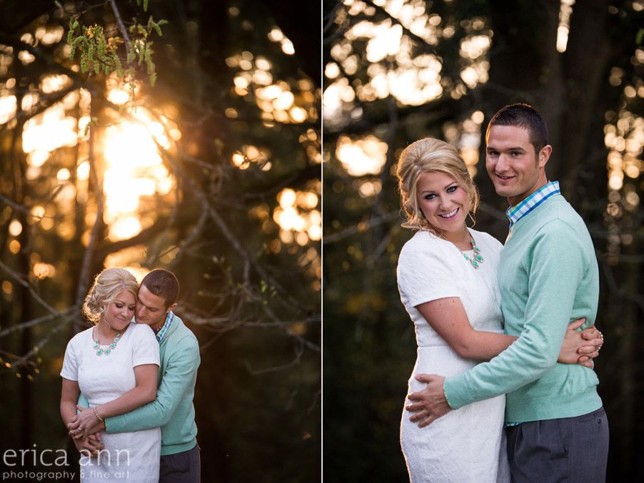 Mt Tabor Engagement Session sunset