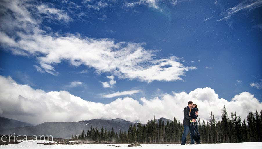 Mt Hood Snowy Engagement Session