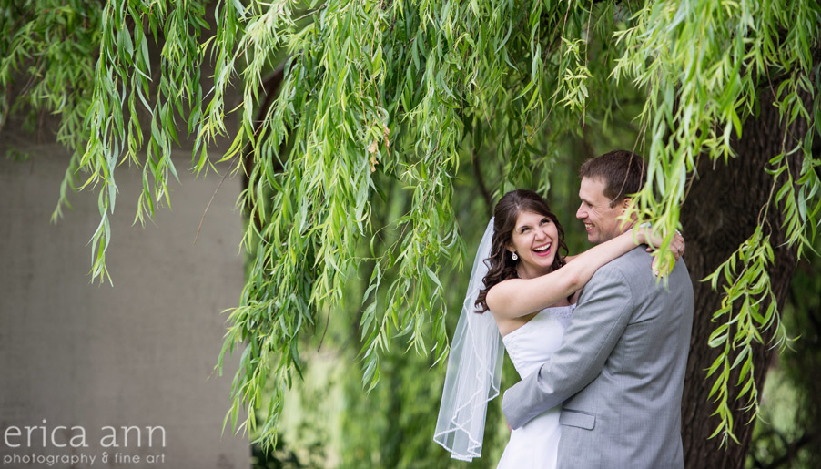 St John's bridge bride and groom