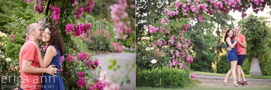Creative Portland Rose Garden Engagement