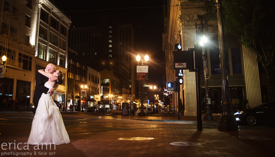 The Tiffany Center Wedding Downtown at Night