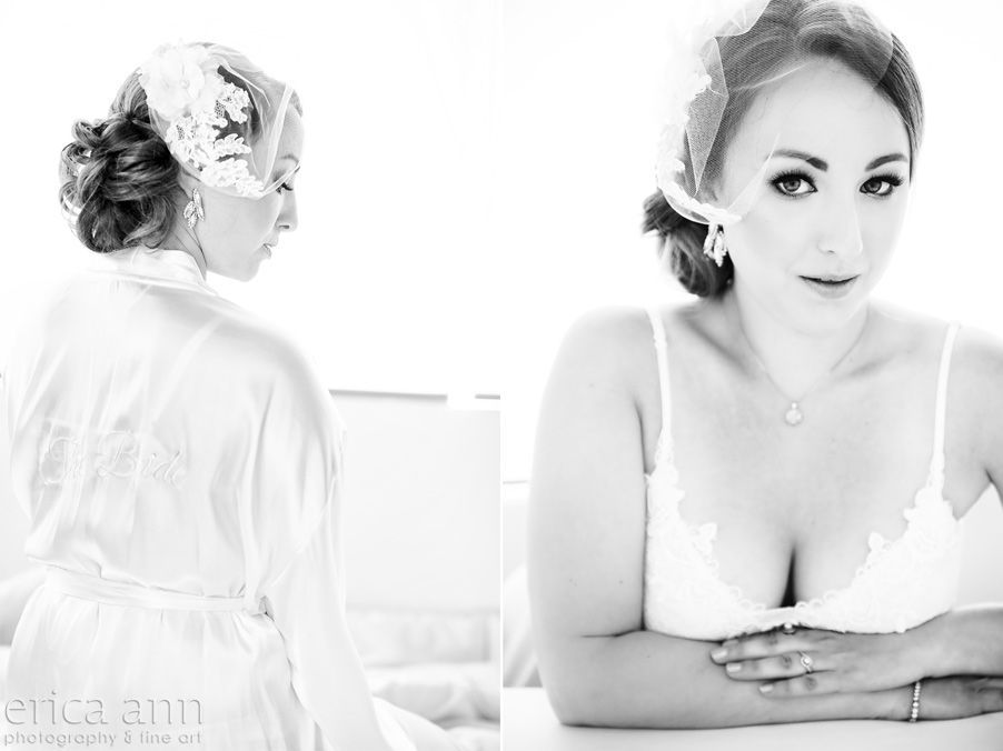 black and white bridal