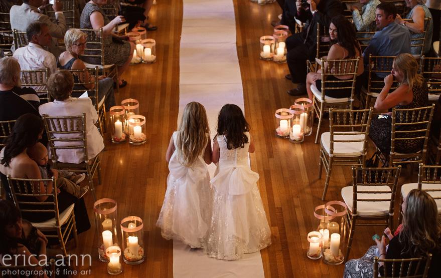 The Tiffany Center Wedding Flower girls