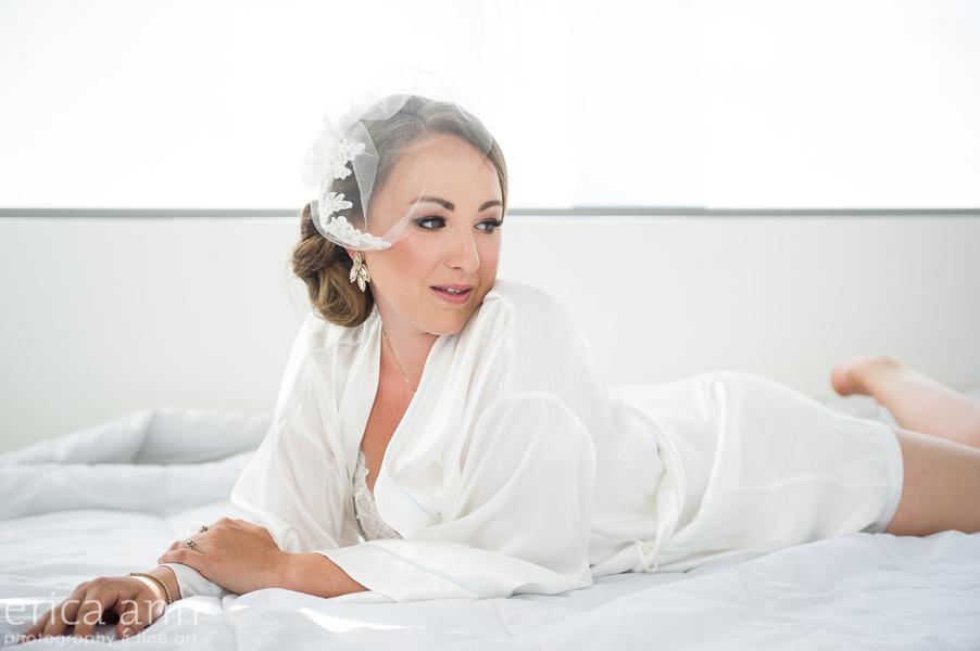 birdcage veil white boudoir