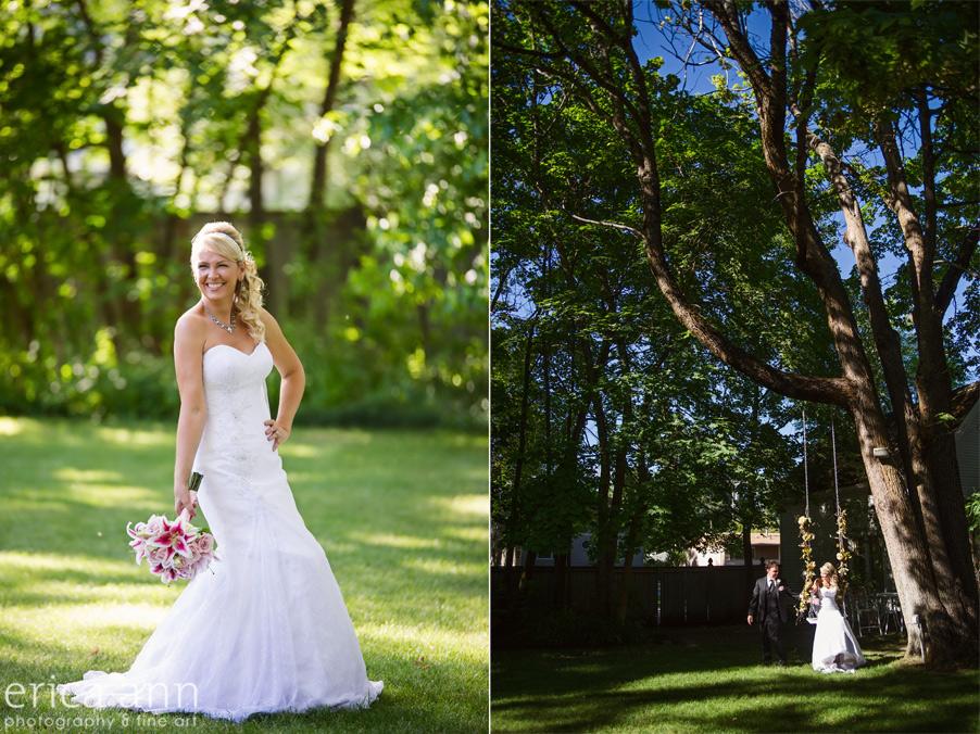 Tree Swing Bride and Groom