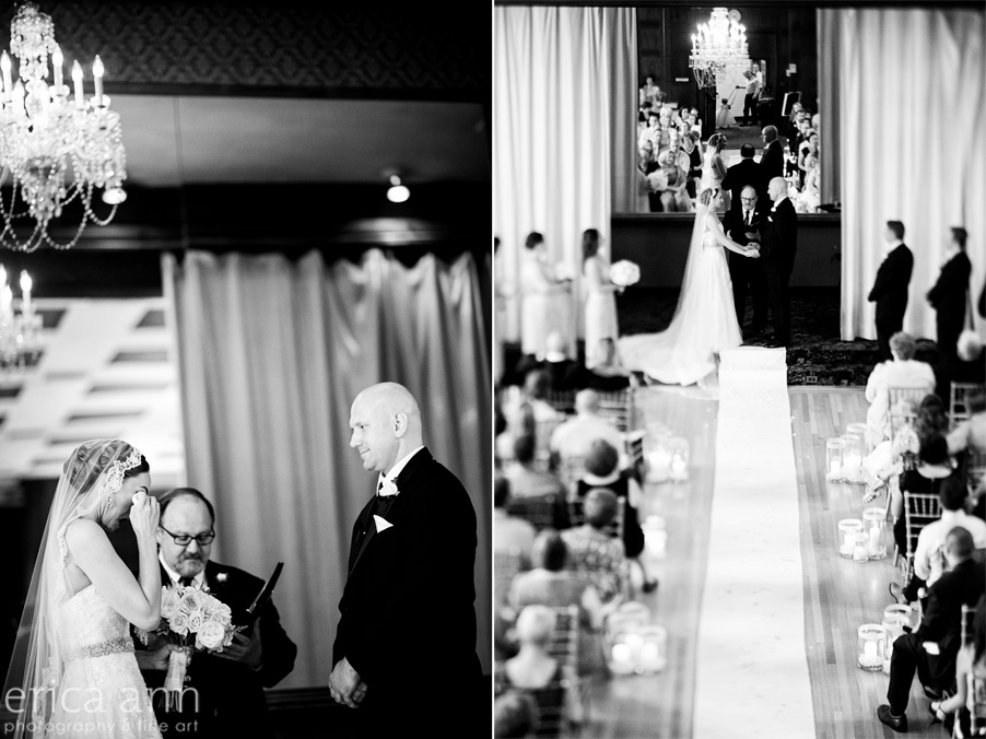 The Tiffany Center Wedding Black and White