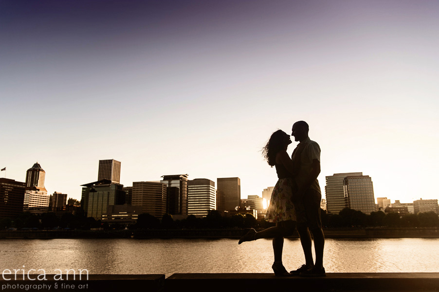 Artistic Portland Waterfront Engagement photos