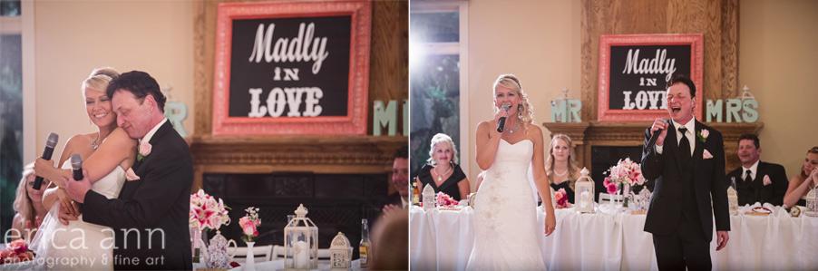 bride and groom duet
