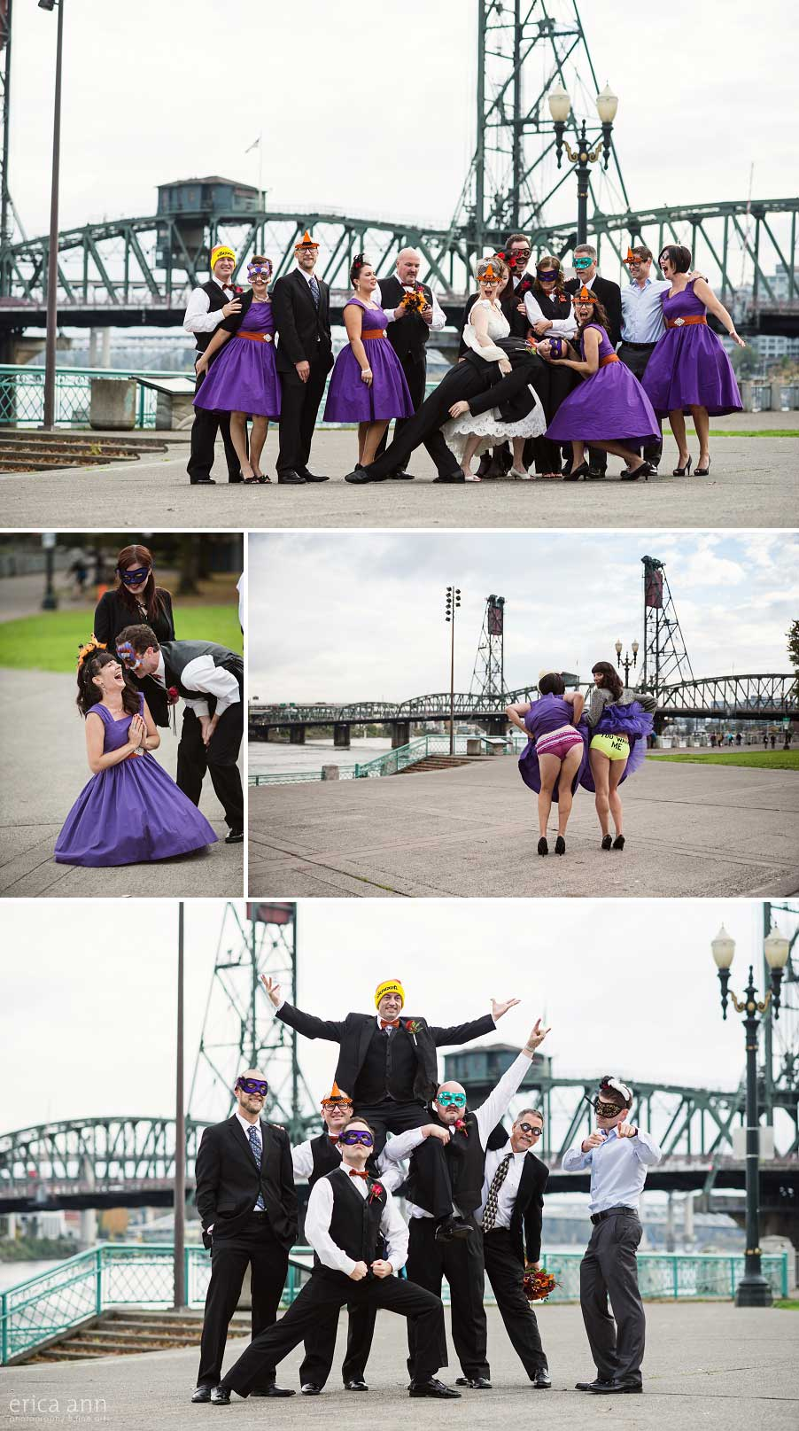 Portland Waterfront Wedding Photos