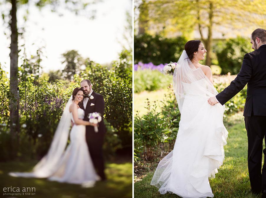 Bride and Groom Green Villa Barn