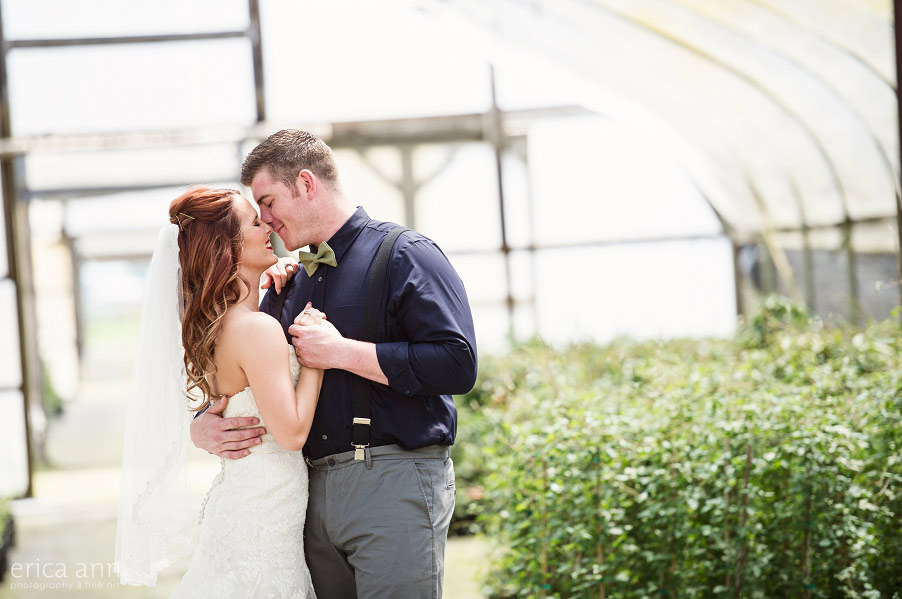 Wilmes Hop Farms Wedding greenhouse