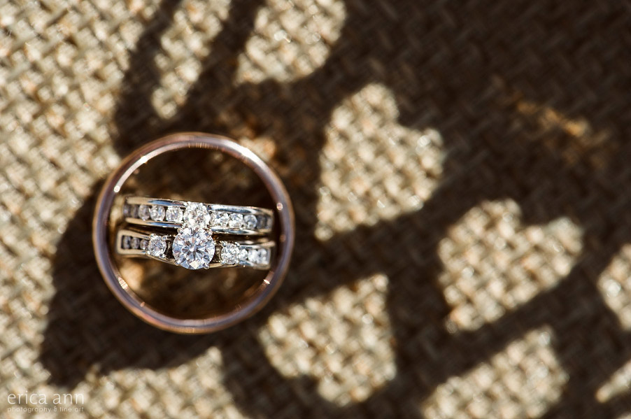 Wilmes Hop Farms Wedding rings heart