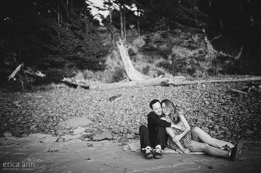 Hug Point Engagement Photography