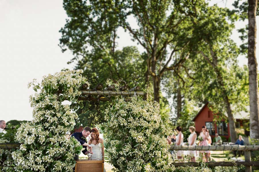 Wilmes Hop Farms Wedding ceremony