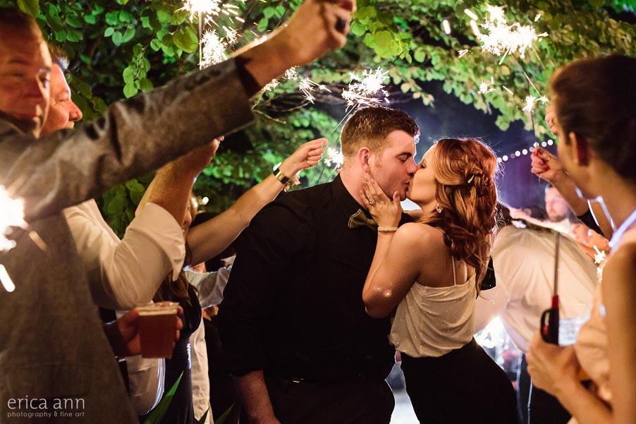 Wilmes Hop Farms Wedding Sparkler Exit