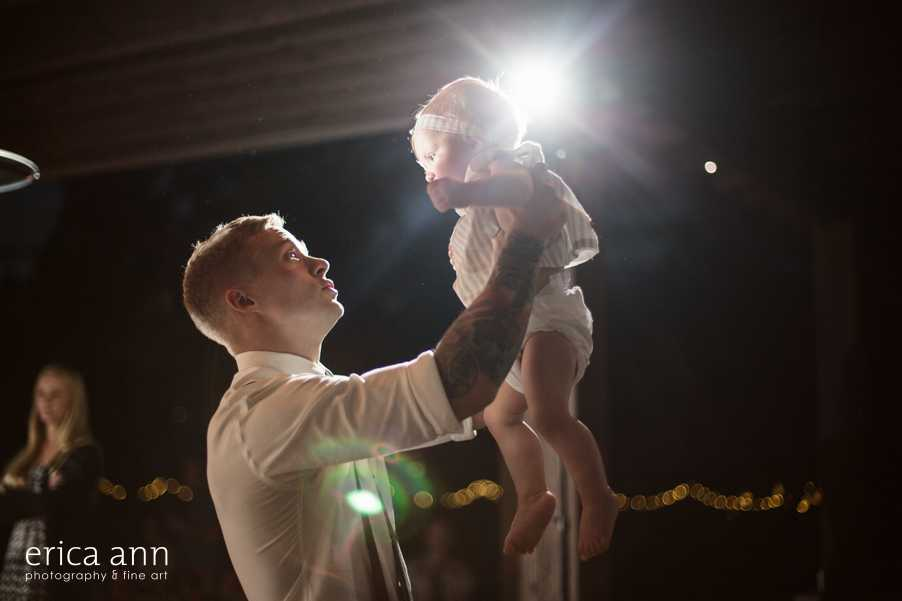 Backyard wedding daddy daughter dance