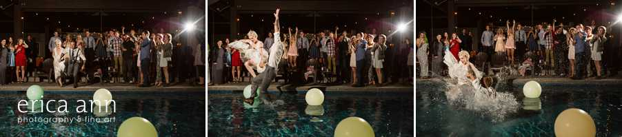 crazy Backyard wedding pool party