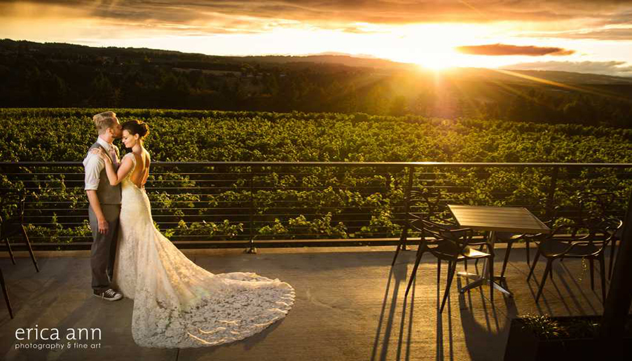 Ponzi Winery Wedding Reception