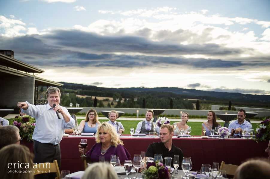 Ponzi Winery Wedding Reception Toasts