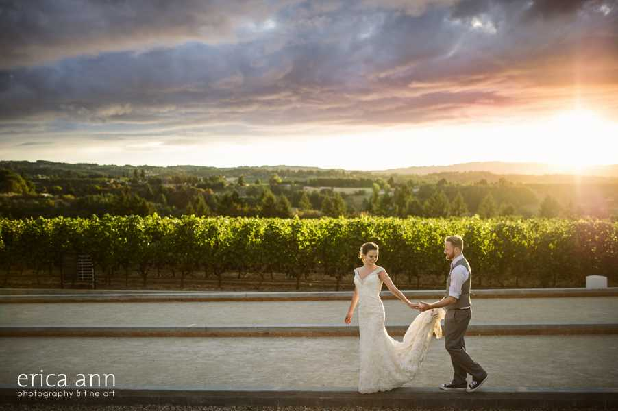 Ponzi Winery Wedding Reception Sunset